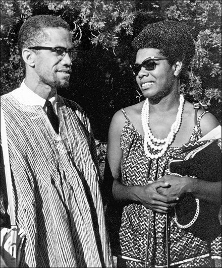 Malcolm X and Maya Angelou in 1964